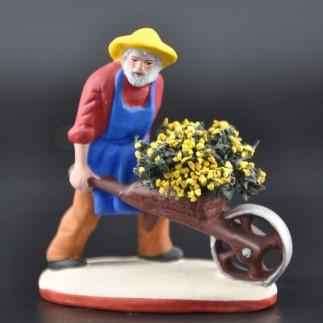 Jardinier à la brouette