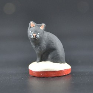 Chat grand noir